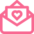 Outline Love Letter Icon