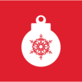 Square Christmas Ornament Icon