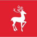 Square Christmas Reindeer Icon