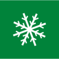 Square Christmas Snowflake Icon