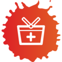 Colorful Add to Basket Shopping Icon