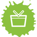 Colorful Shopping Basket Icon