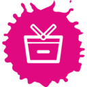 Colorful Remove from Basket Shopping Icon