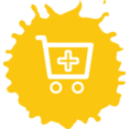 Colorful Add to Cart Shopping Icon