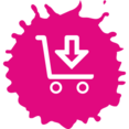 Colorful Download Shopping Icon