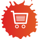 Colorful Shopping Cart Icon