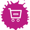 Colorful Remove from Shopping Cart Icon