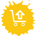 Colorful Upload Shopping Icon