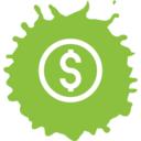 Colorful Dollar Sign Shopping Icon