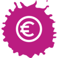 Colorful Euro Shopping Icon