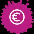Colorful Euro Shopping Icon