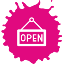 Colorful Open Sign Shopping Icon
