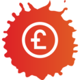 Colorful Pound Shopping Icon