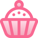 Filled Cupcake Icon