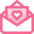 Filled Love Letter Icon