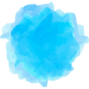Watercolor Apple Social Media Icon