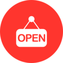 Open Sign Universal Icon