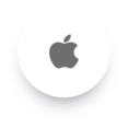 Simple Apple Social Media Icon
