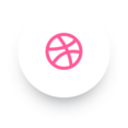 Simple Dribbble Social Media Icon