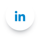 Simple LinkedIn Social Media Icon
