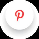 Simple Pinterest Social Media Icon