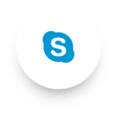 Simple Skype Social Media Icon