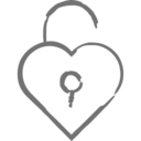 Unlock Heart Icon
