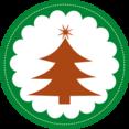 Flat Christmas Tree Icon