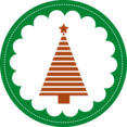 Flat Christmas Tree Icon