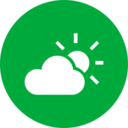 Colorful Partly Cloudy Weather Icon
