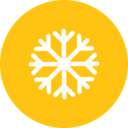 Colorful Snow Weather Icon
