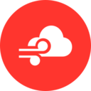 Colorful Windy Weather Icon