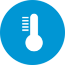 Colorful High Temperature Weather Icon