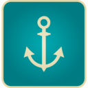 Flat Vintage Anchor Icon