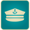Flat Vintage Sailor Hat Icon