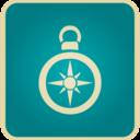 Flat Vintage Compass Icon