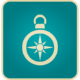 Flat Vintage Compass Icon