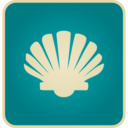 Flat Vintage Seashell Icon