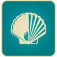 Flat Vintage Shell Icon