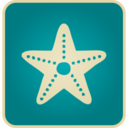 Flat Vintage Starfish Icon