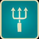 Flat Vintage Trident Icon