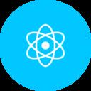 Teal Atom Icon