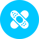 Teal Band-Aid Icon