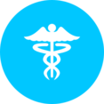 Teal Caduceus Icon