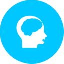 Teal Brain Function Icon