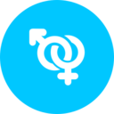 Teal Gender Icon