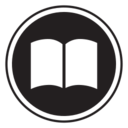 Digital Book Glyph Icon