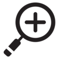 Digital Zoom In Glyph Icon