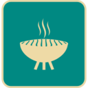 Flat Grill Icon