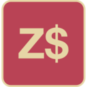 Flat Zimbabwe Dollar Icon